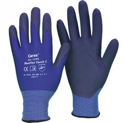 Carex® BlueFlex Touch 1  Nylon-Hds, blau, NFT-Beschicht./schwarze, Touch Screen Funktion