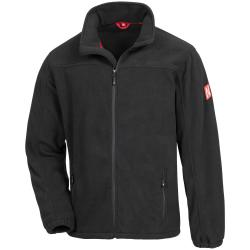 7040 NITRAS MOTION TEX PLUS, Fleece-Jacke, schwarz