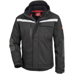 7180W NITRAS MOTION TEX PLUS, Winter-Softshelljacke, schwarz